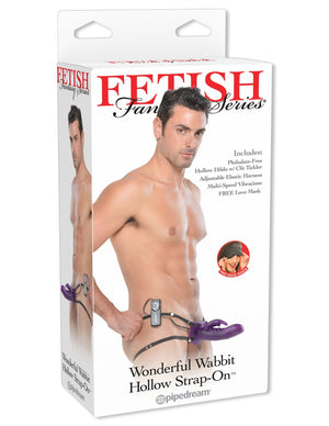 Fetish Fantasy Series Wonderful Wabbit Hollow Strap-On Strap-Ons & Harnesses - Hollow Strap-Ons Pipedream Products Purple