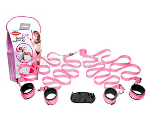 Frisky Pink Bedroom Restraint Kit Pink Bondage - Bondage & Restraint Kits Frisky Default Title