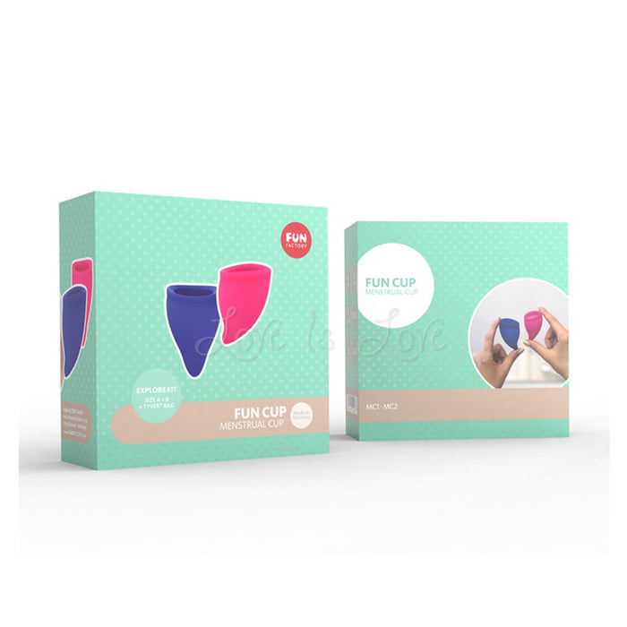 Fun Factory Fun Cup Explore Kit (Menstrual Cup Size A and Size B)