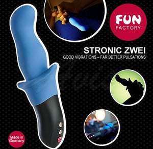 Fun Factory Stronic Zwei Pulsator Black or Jean Blue Prostate Massagers - Fun Factory Prostate Toys Fun Factory