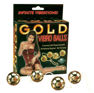 Gold Vibro Balls 4-pc Set For Her - Kegel & Pelvic Exerciser Pipedream Products
