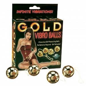 Gold Vibro Balls 4-pc Set