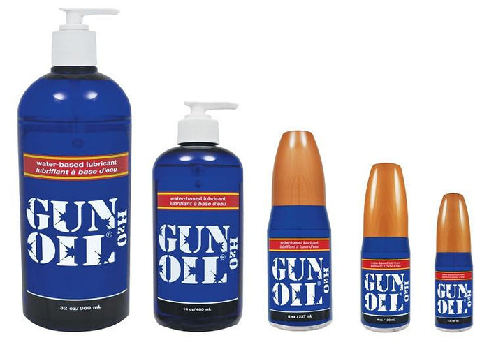 Gun Oil H2O Water-Based Lubricant 2 oz or 4 oz or 8 oz and 16 oz and 32 oz