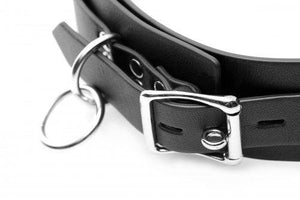 Heavy Duty Locking 3 Ring Collar UP520 ( Good Reviews)( Limited Stock) Bondage - Collars & Leash Strict Leather