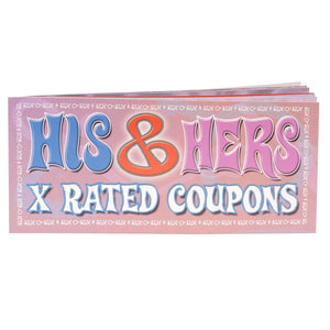 His and Hers X-Rated Coupons Gifts & Games - Gifts & Novelties Pipedream Products
