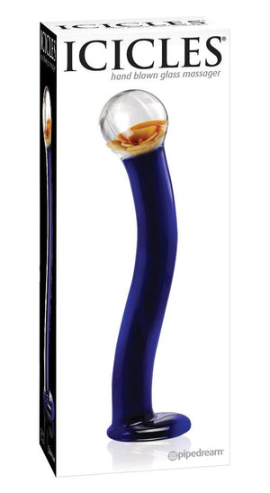 Icicles No.17 Hand Blown Glass Massager Dildos - Glass/Ceramic/Metal ICICLES
