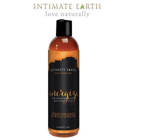 Intimate Earth Energize Aromatherapy Massage Oil Fresh Orange & Wild Ginger For Us - Sexy Massage Intimate Earth