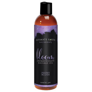 Intimate Earth Massage Oil Honey Almond or Bloom Peony Blush 120 ML 4 FL OZ For Us - Sexy Massage Intimate Earth
