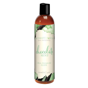 Intimate Earth Natural Flavors Glide Chocolate Mint 120 ML 4 FL OZ Lubes & Toy Cleaners - Flavoured Lubes Intimate Earth