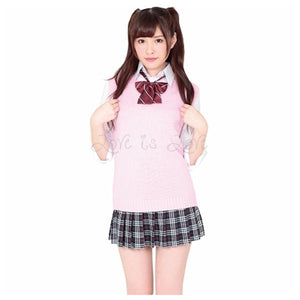 Japan A&T Lovely Pink School Uniform M Size For Her - Women's Sexy Wear A&T