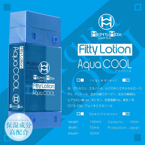Japan Enjoy Toys Men's Max Fitty Lotion Aqua Cool 180 ml Lubes & Toy Cleaners - Jap Lubes & Scented Lotions Enjoy Toys
