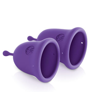 JimmyJane Intimate Care Menstrual Cups Two Piece Set Purple For Her - Menstrual Cups JimmyJane
