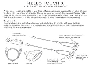 JimmyJane Hello Touch X - Pick Your Pleasure Electrostimulation And Vibration