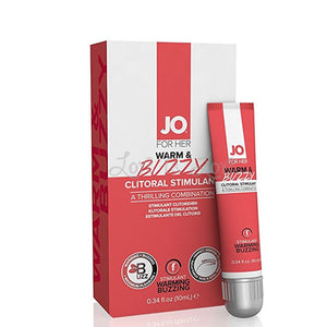 Jo For Her Warm & Buzzy Clitoral Cream 10 ML 0.35 FL OZ Enhancers & Essentials - Aromas & Stimulants System JO