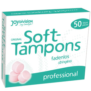 JoyDivision Soft-Tampons Stringless Professional 50 Piece Pack Enhancers & Essentials - Hygiene & Intimate Care Joy Division