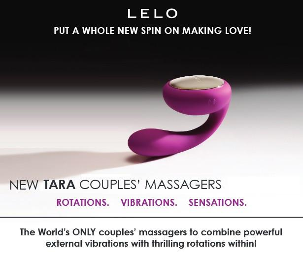 Lelo Insignia Tara Rotating Couple's Massager Black or Midnight Blue or Deep Rose ( Overstock Sale )