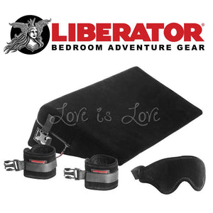 Liberator Black Label Wedge (Microfiber Black - Include wrist cuffs, blindfold) For Us - Sex Furniture Liberator