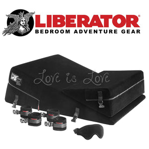 Liberator Black Label Wedge/Ramp Combo (Microfiber Black) (Last Piece At Geylang Store) For Us - Sex Furniture Liberator