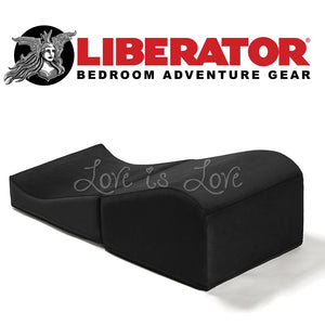 Liberator Flip Ramp (Microfiber Black) For Us - Sex Furniture Liberator