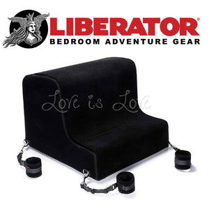 Liberator Obeir Spanking Bench with Plush Cuff Kit (Microfiber Black) For Us - Sex Furniture Liberator