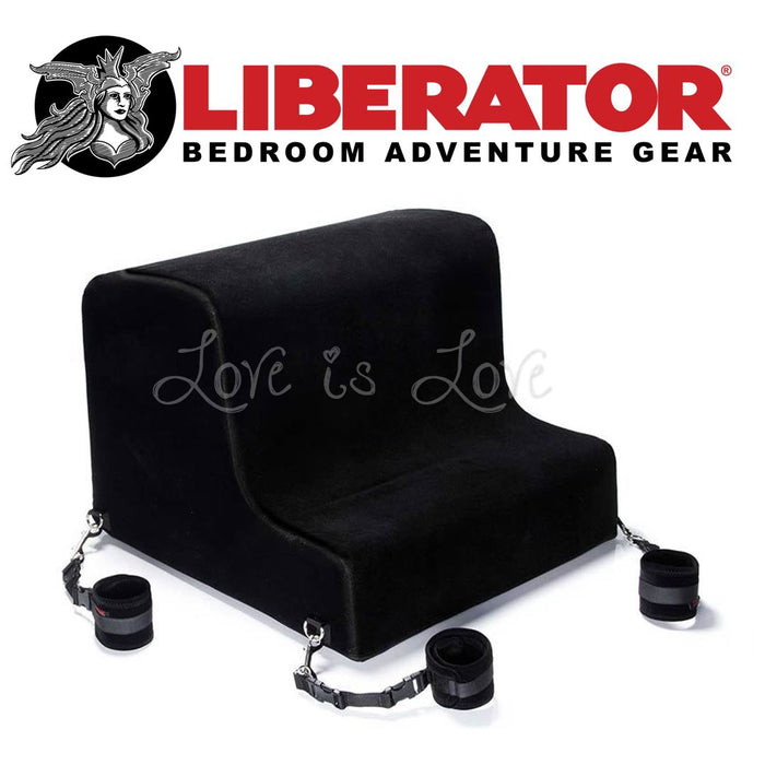 Liberator Obeir Spanking Bench with Plush Cuff Kit  (Microfiber Black)