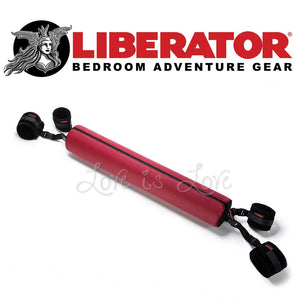 Liberator Talea Spreader Bar With Plush Cuffs Kit (Claret) For Us - Sex Furniture Liberator