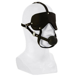 Lovers Headgear Advanced Eye Mask And Ball Gag Bondage - Ball & Bit Gags Calexotics