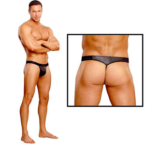 Male Power Micro G-String V Black Cobra SM or LXL For Him - Men's Intimate Wear Male Power
