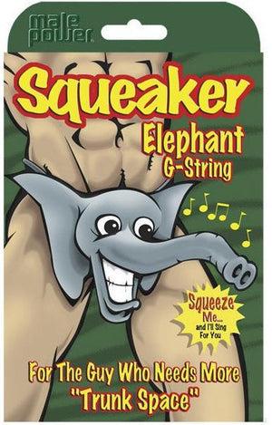 Male Power Squeaker Elephant G-String Gifts & Games - Gifts & Novelties Male Power