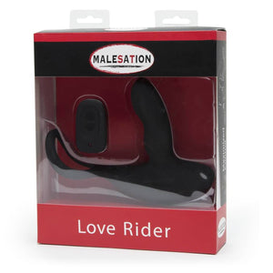 Malesation Remote Control Love Rider 11 Functions Black Prostate Massagers - Other Prostate Toys Malesation