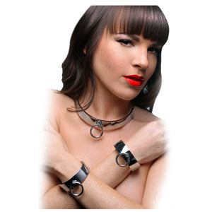 Master Series Chrome Slave Bracelet ML Bondage - Ankle & Wrist Restraints Master Series