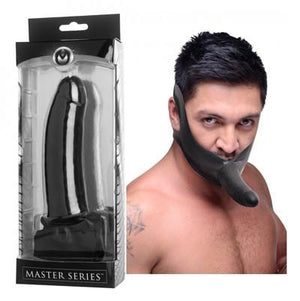 Master Series Face Fuk Strap-On Mouth Gag Bondage - Ball & Bit Gags Master Series