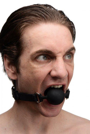 Master Series Suppressor Silicone Face Banger Gag (Retail Popular Gag) Bondage - Ball & Bit Gags Master Series