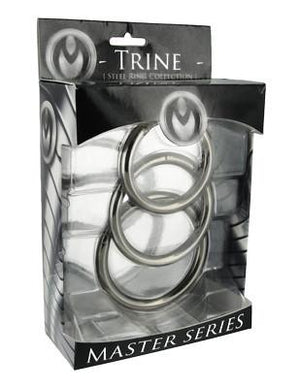 Master Series Trine Steel Ring Collection Cock Rings - Metal Cock Rings Master Series