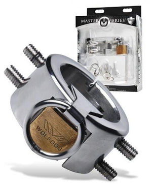 Masters Series Diablo Stainless Steel CBT Spiked Chamber For Him - Chastity Devices Master Series