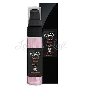 Max 4 Men Max Head Flavored Oral Sex Gel Berry Orgasmic 65 ml 2.2 fl oz Enhancers & Essentials - His Sex Drive Classic Erotica
