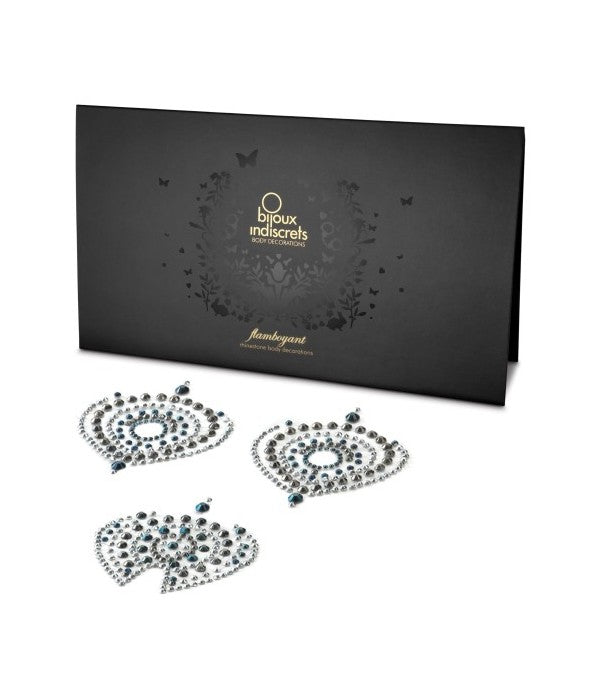 Bijoux Indiscrets Flamboyant Rhinestone Body Decoration Metallic Special Edition (Retail Popular Nipple Pasties)