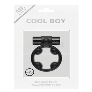 ML Creation Cool Boy Vibrating Cock Ring Black Cock Rings - Rechargeable Cock Rings ML Creation