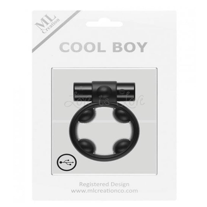 ML Creation Cool Boy Vibrating Cock Ring Black