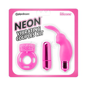 Neon Luv Touch Vibrating Couples Kit Pink For Us - Couples Vibrators Pipedream Products