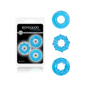 NS Novelties Renegade Dyno Rings Blue Cock Rings - Cock Ring Sets NS Novelties