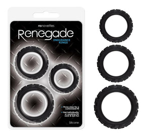 NS Novelties Renegade Endurance Rings For Him - Cock Ring Sets NS novelties