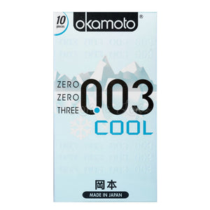 Okamoto 0.03 World's Thinnest Condom With Cool (10 Pcs) Enhancers & Essentials - Condoms Okamoto