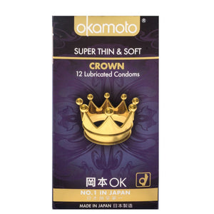 Okamoto Crown Condoms Pack of 3s or 12s Enhancers & Essentials - Condoms Okamoto Pack of 12s
