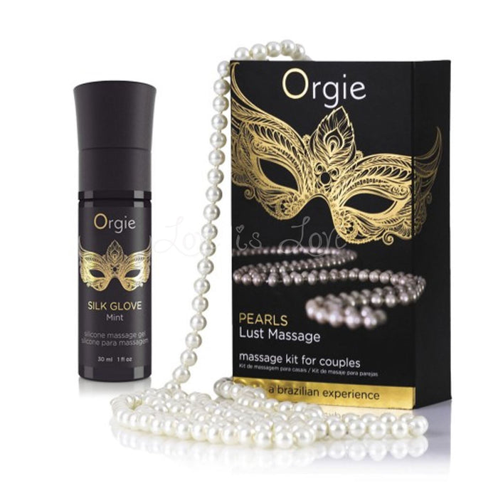 Orgie Pearls Lust Massage - Massage Kit For Couple