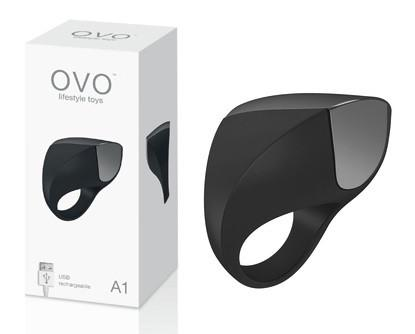 OVO A1 Silicone Vibrating Rechargeable Cock Ring