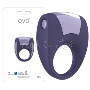 Ovo B8 Vibrating Silicone Cock Ring For Him - Vibe Cock Rings OVO