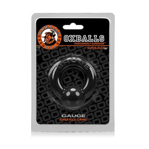 Oxballs Gauge Cock Ring Black or Steel ( Newly Replenished ) Cock Rings - Oxballs C&B Toys Oxballs