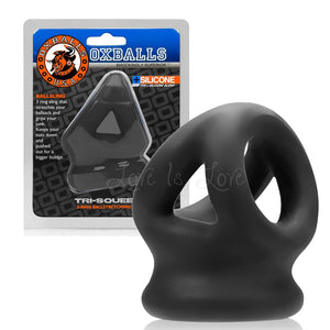 Oxballs Tri-Squeeze Ballstretching Sling Black (Popular Oxballs Tri-Sling) Cock Rings - Oxballs C&B Toys Oxballs