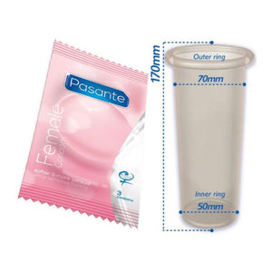 Pasante Female Condom 3pcs Enhancers & Essentials - Condoms Pasante
